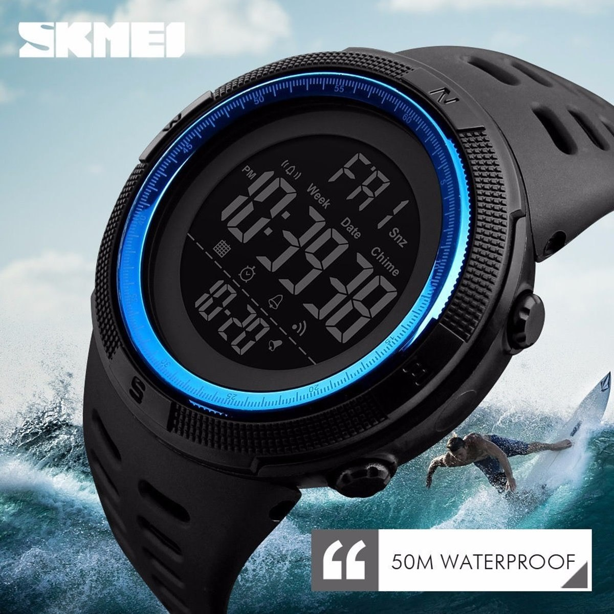 0d8a419d382 relógio masculino digital esportivo prova d água skmei 1251. Carregando zoom .