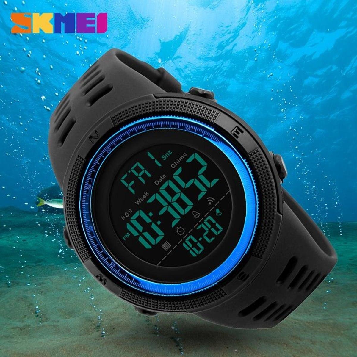 41018e63b77 relógio masculino digital esportivo prova d água skmei 1251. Carregando  zoom.