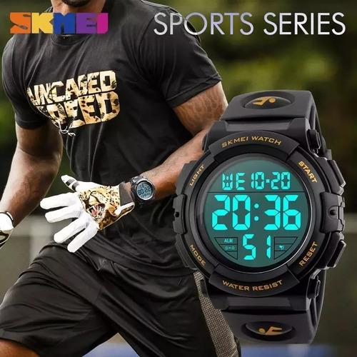 relógio masculino digital esportivo prova d'água skmei 1258