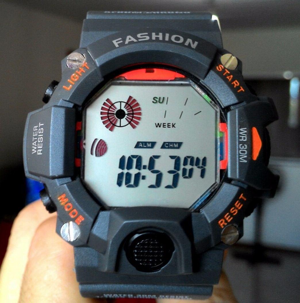 20efaa13556 relógio masculino digital fashion cor chumbo marinha militar. Carregando  zoom.