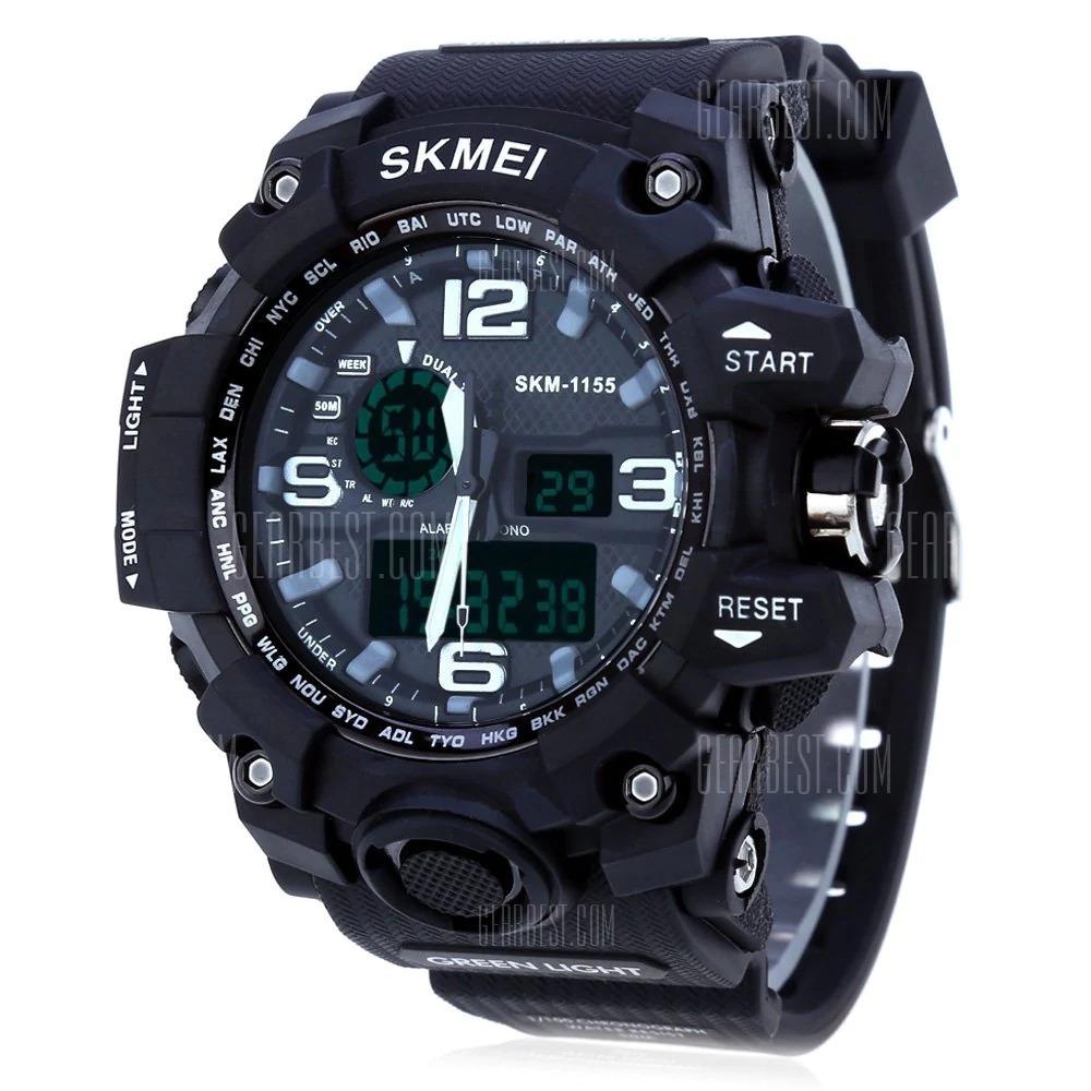 f3bf59b0df7 relógio masculino digital led - esportivo - preto. Carregando zoom.