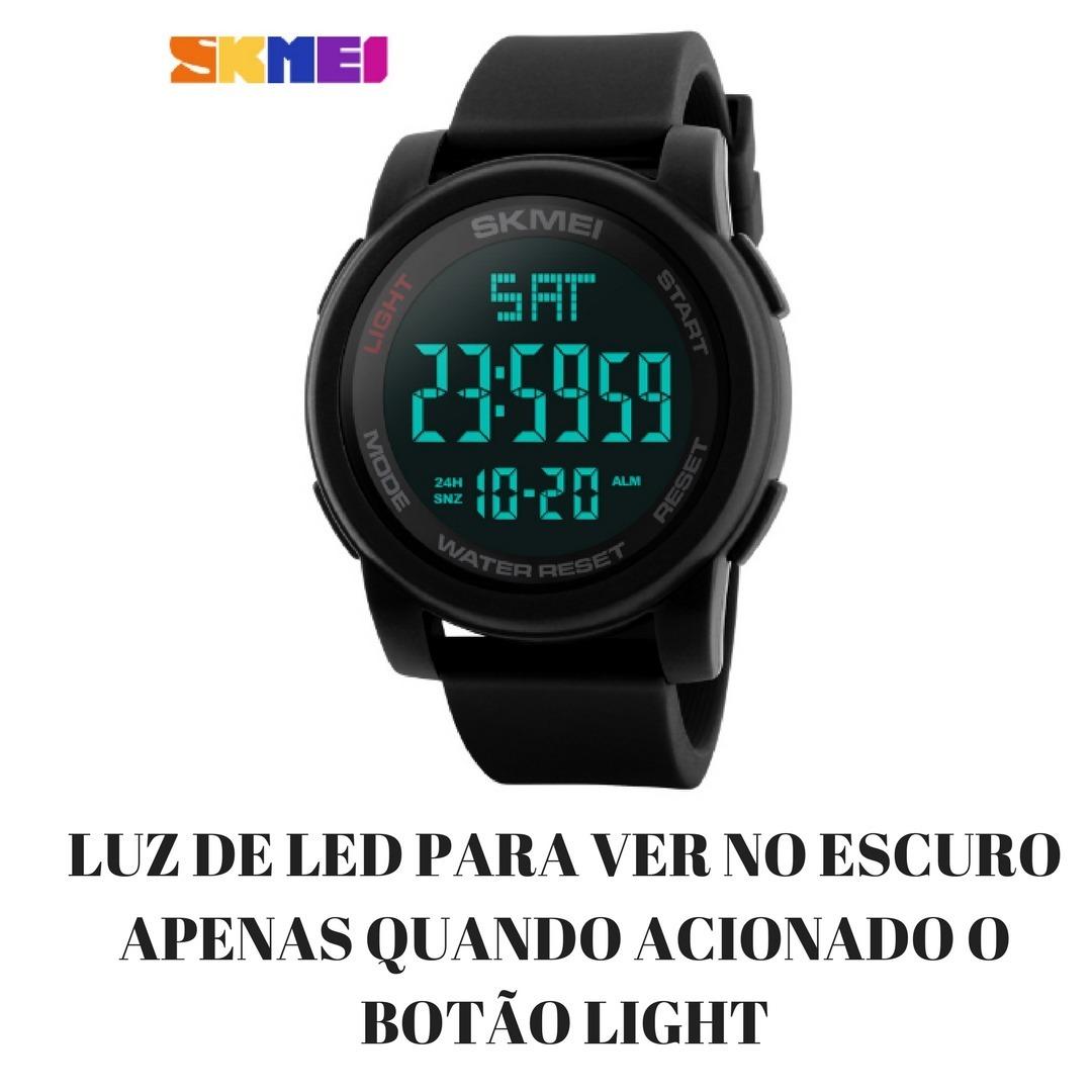 a2a4f6f2ec0 relógio masculino digital led esportivo skmei 1257 original. Carregando zoom .