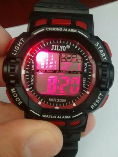 relógio masculino digital led troca de cor barato