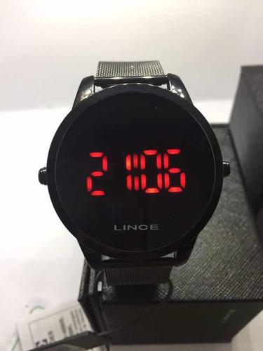 relógio masculino digital lince led mdn4586l pxpx