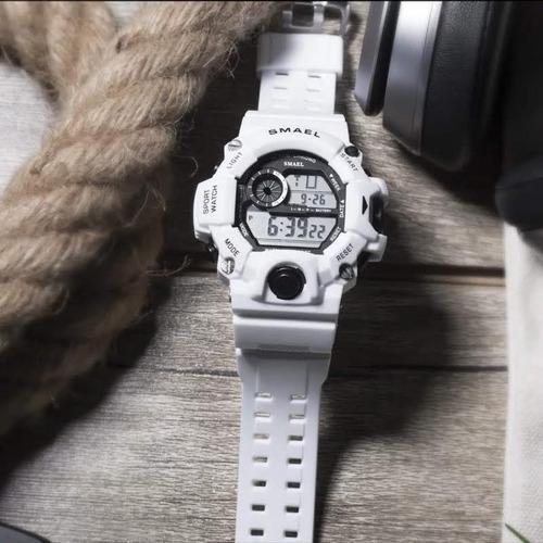 relógio masculino digital militar smael 1385b à prova d'àgua