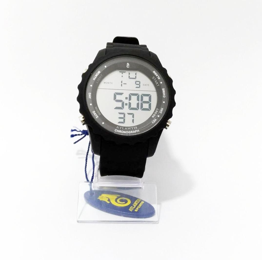 fd7fd743898 Relógio Masculino Digital Prova De Água Atlantis Fotos Reais - R ...