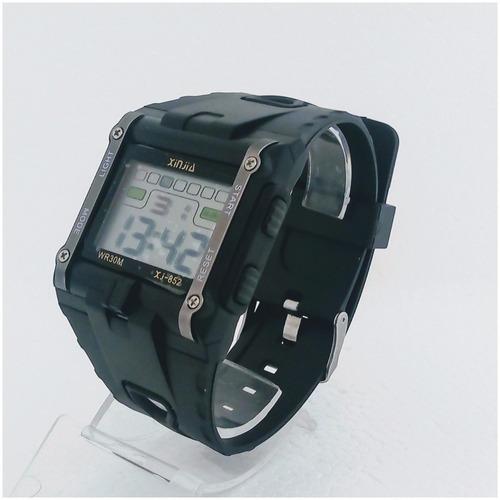 relógio masculino digital quadrado original prova dagua