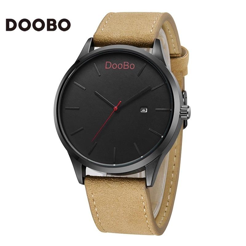 Relógio Masculino Doobo Casual Luxo Pulseira De Couro - R  99,90 em ... 7312a1d71c