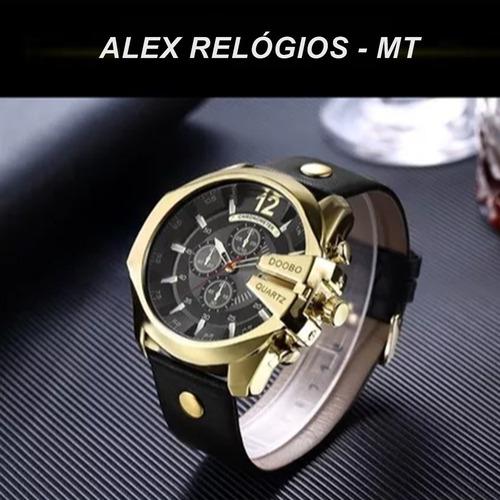 relógio masculino doobo com pulseira preta