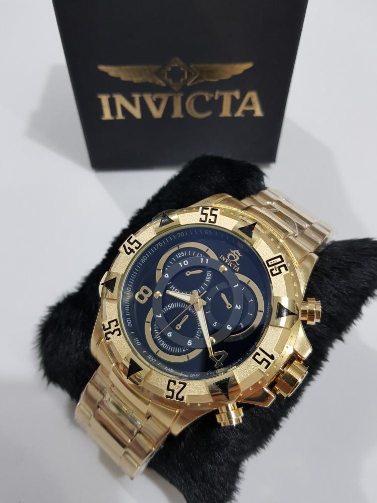 4b4e5d41b73 relógio masculino dourado aço pesado gravado na caixa. Carregando zoom.