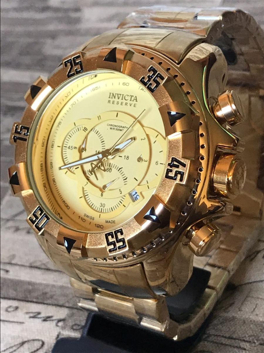 06058184a21 relógio masculino dourado barato aço grande pesado com caixa. Carregando  zoom.
