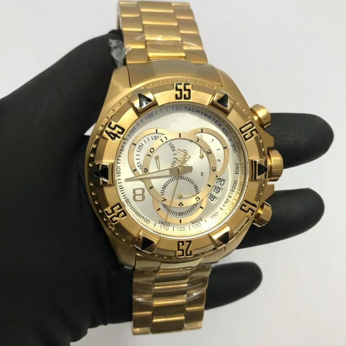 28b0c729d9637 Relógio Masculino Dourado Barato Pesado Melhor Frete Gratis - R  79 ...