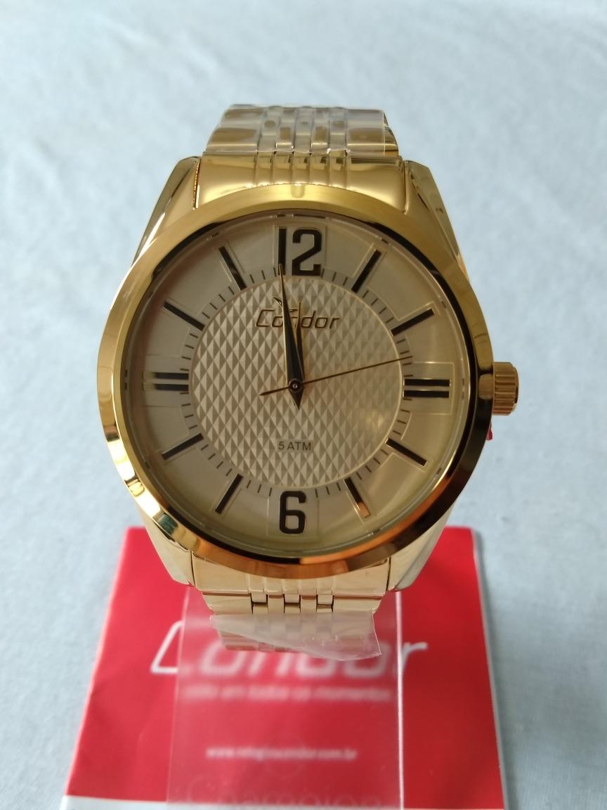 efdac5f51c8 Relogio Masculino Dourado Condor Original Ref-co2036dc 4x. - R  169 ...