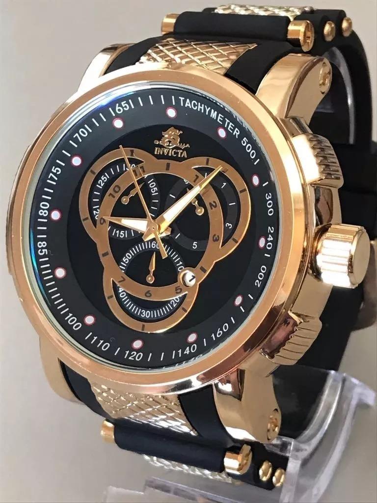 bd0b53d8e87 relógio masculino dourado e preto grande pesado top promoção. Carregando  zoom.