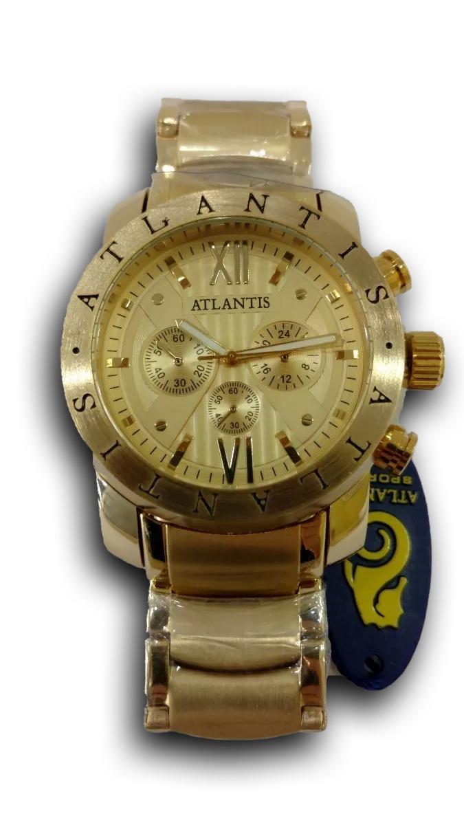 1b87d49f7b4 relógio masculino dourado estilo bulgari atlantis original. Carregando zoom.
