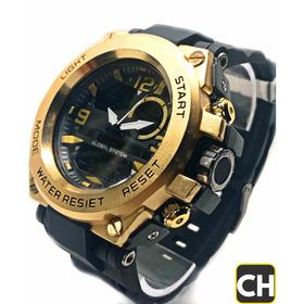 Relógio Masculino Dourado Estilo Gshock Promoção De Luxo!