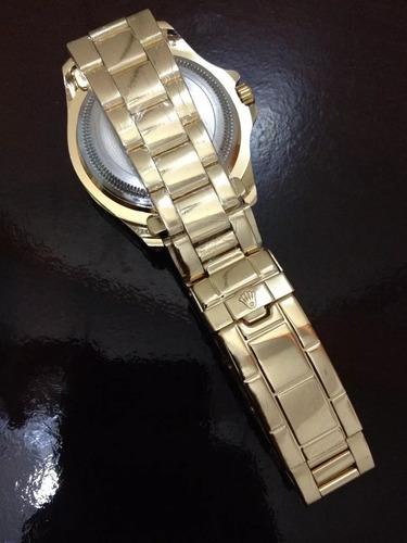 relógio masculino dourado fundo preto + caixa !!!!