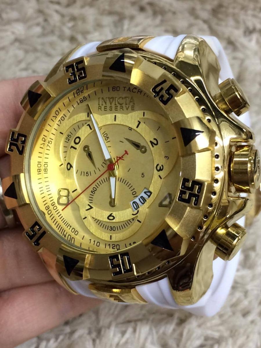 692f341ad relógio masculino dourado grande barato pesado promoção. Carregando zoom.