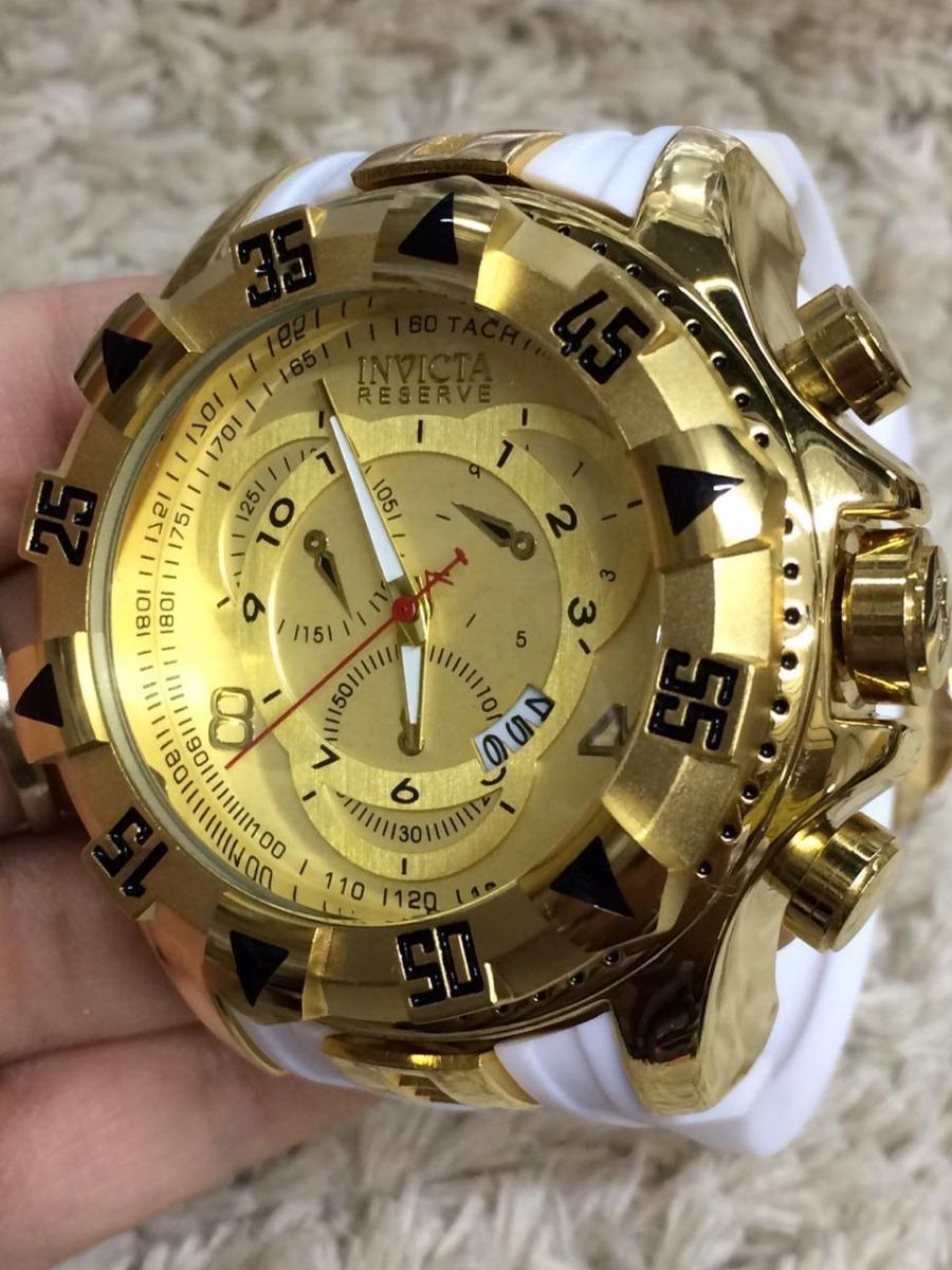 7784c361cc2 relógio masculino dourado grande pesado e barato. Carregando zoom.