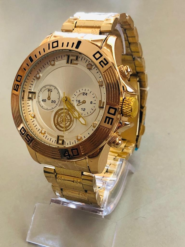 272e679255a relógio masculino dourado importado lindo aproveite promoção. Carregando  zoom.