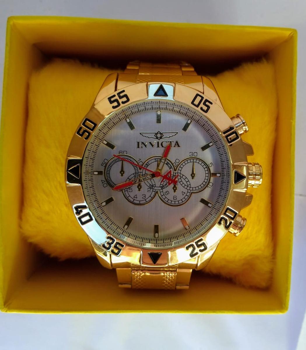 16562325c6d7e Relogio Masculino Dourado Luxo Atacado Revender Promoção C 5 - R  149