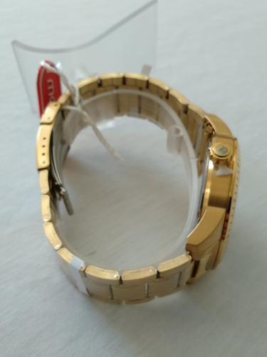 relogio masculino dourado mondaine original ref-99155gpmvda2