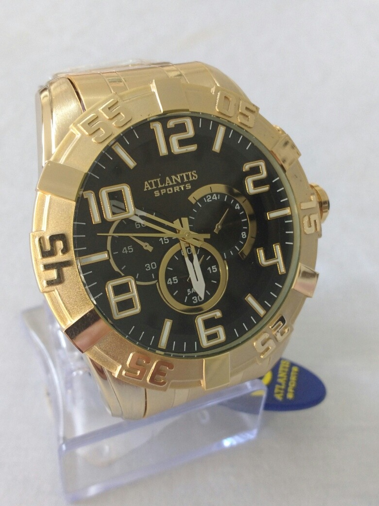 1913a335044 relógio masculino dourado original atlantis frete grátis. Carregando zoom.
