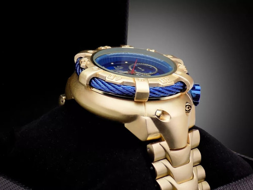 relógio masculino dourado original orizom + caixa + garantia