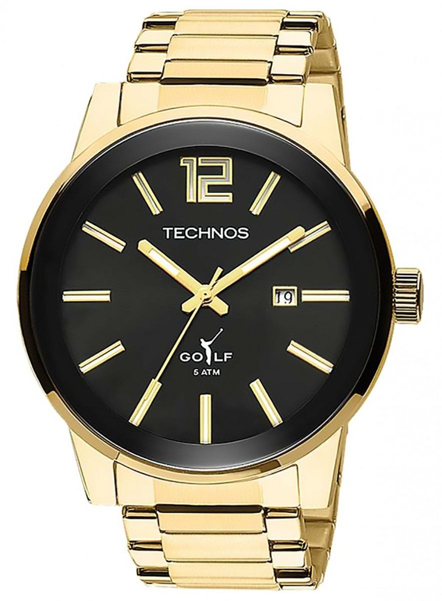 relogio masculino dourado original technos 2115tt 4p garant. Carregando  zoom. b0b86f113e