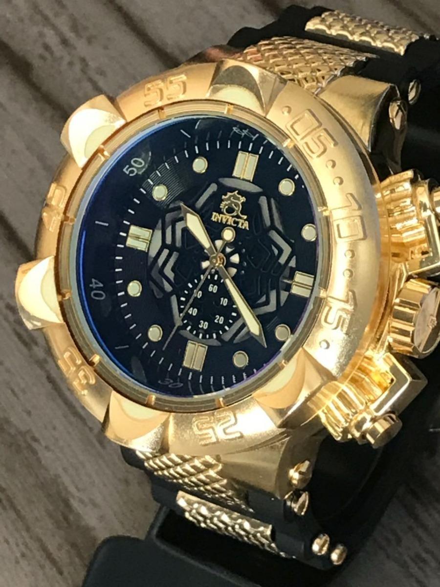b763edd69ed relógio masculino dourado prata barato aço pesado + brinde!! Carregando zoom .