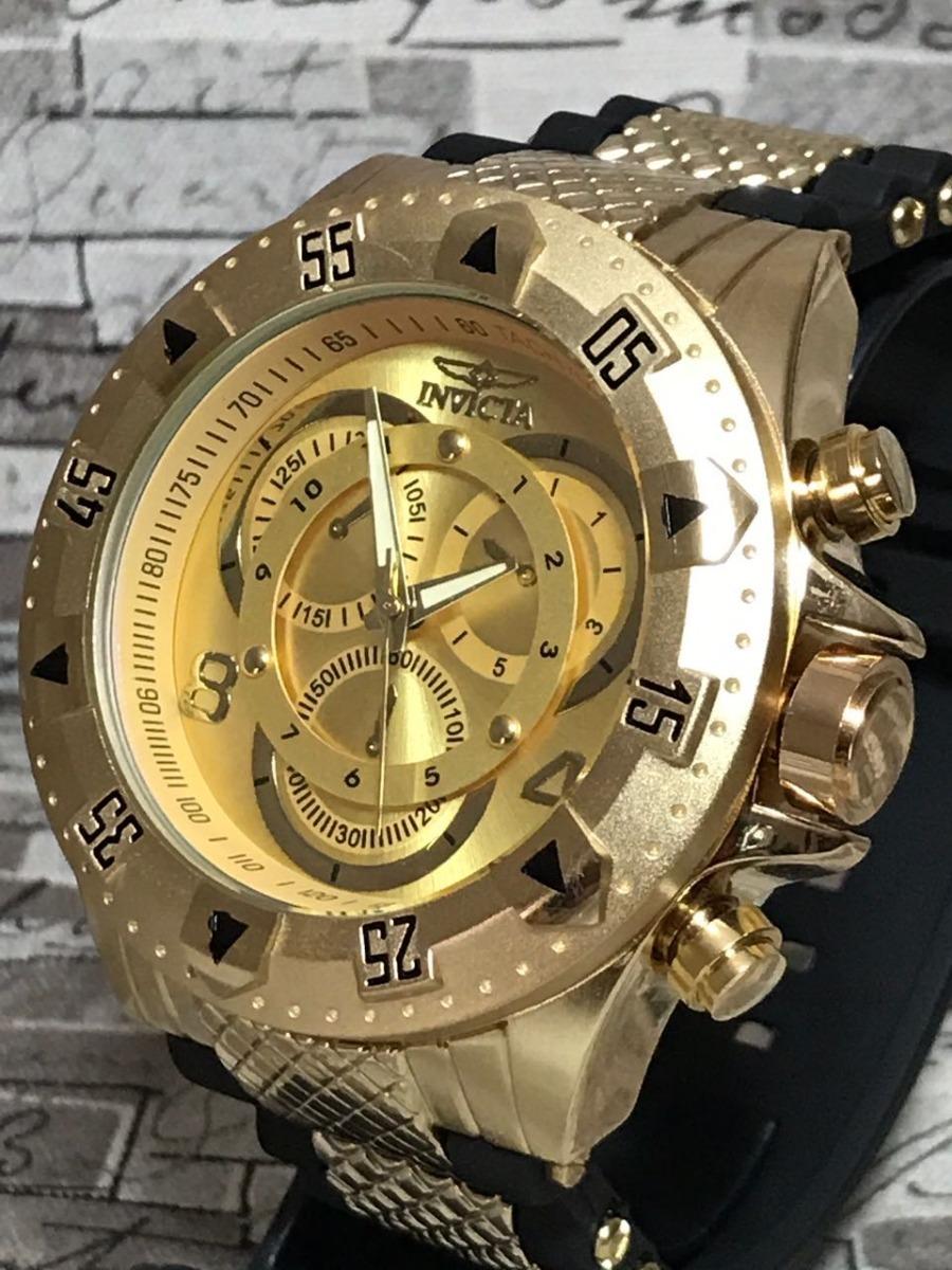 287fa4e51ec relógio masculino dourado prata barato aço pesado + brinde!! Carregando  zoom.