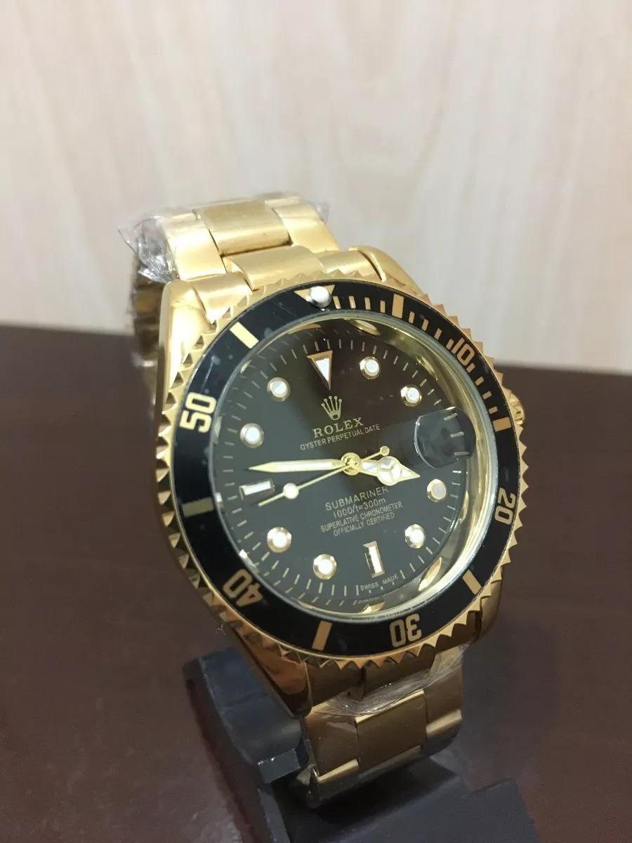 722db5a12f5 relógio masculino dourado  preto. Carregando zoom.