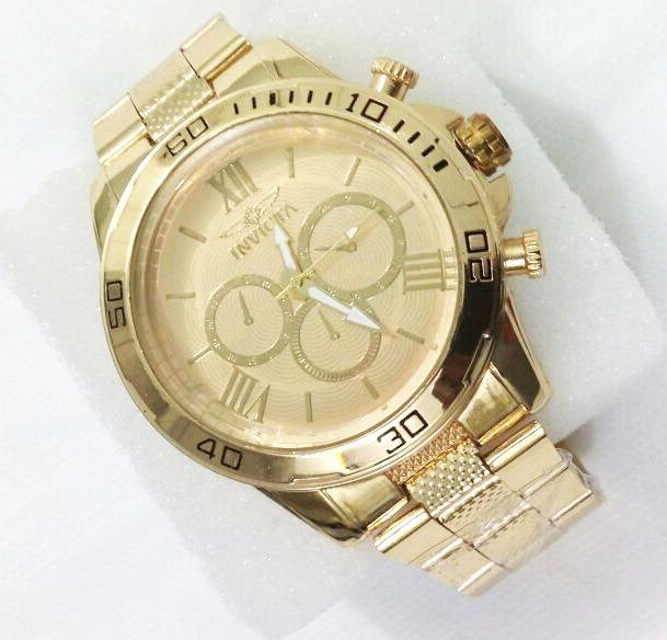 ccf1c6234 Relógio Masculino Dourado