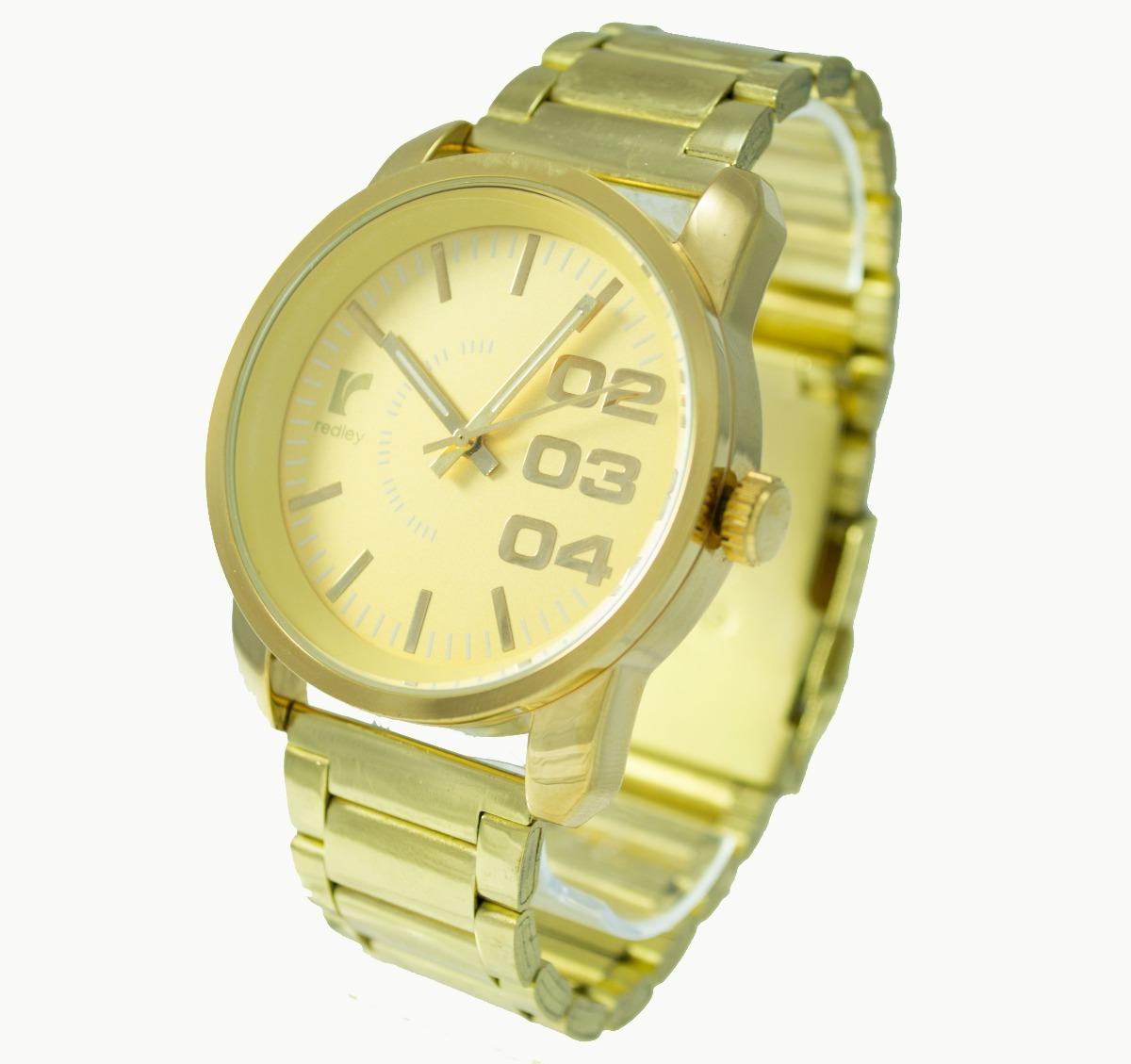 e54e7f3dbdd relógio masculino dourado redley barato revenda atacado caix. Carregando  zoom.