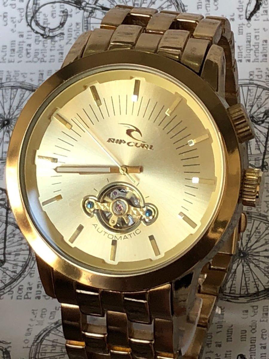 fa41d229bac relógio masculino dourado rip curl detroit automatico+frete. Carregando zoom .