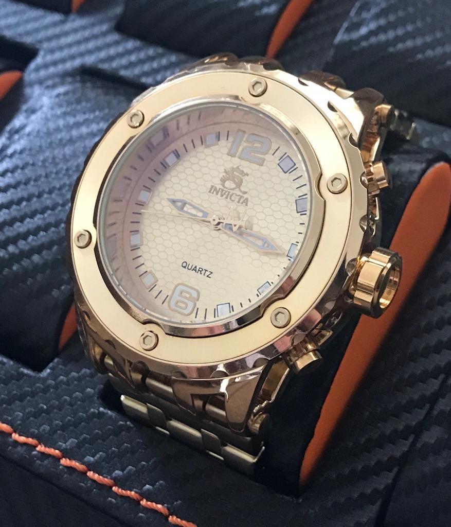 bb7136407c1 relógio masculino dourado subagua top barato+brinde+promoção. Carregando  zoom.