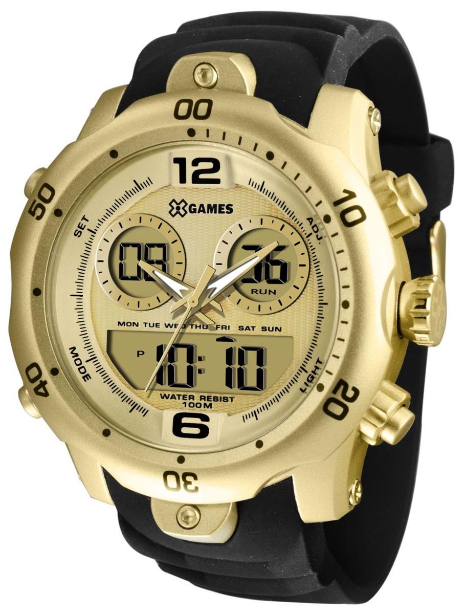 036065133ffec relógio masculino dourado x-games original xmppa208 o melhor. Carregando  zoom.