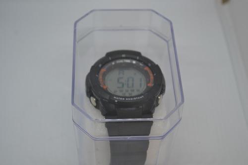 relógio masculino dual time digital esportivo 48mm