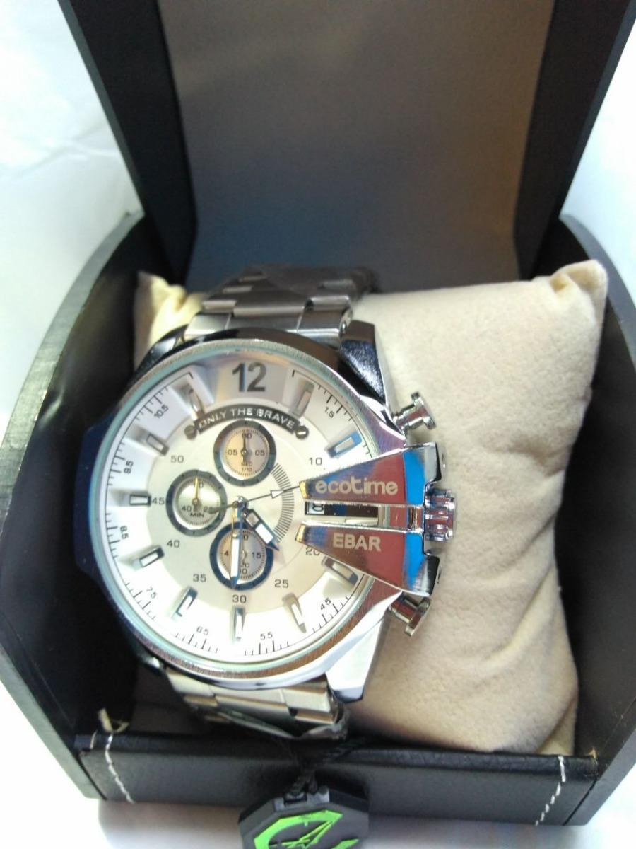 9654c779b6bd1 Relógio Masculino Ecotime Prata Multifuncional - R  199,99 em ...