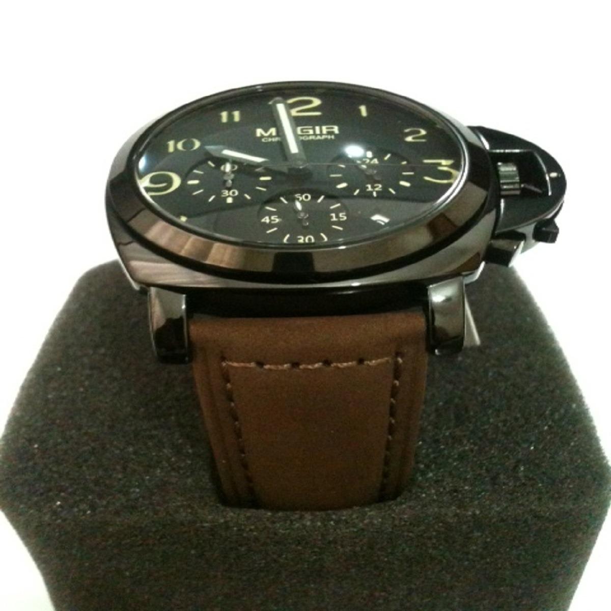 0f532f55402 relógio masculino edportivo original couro megir 3406. Carregando zoom.