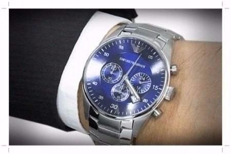 relógio masculino empório armani 5860 clássico original