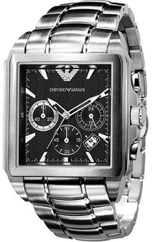 relógio masculino empório armani aço original c/nf ar0659