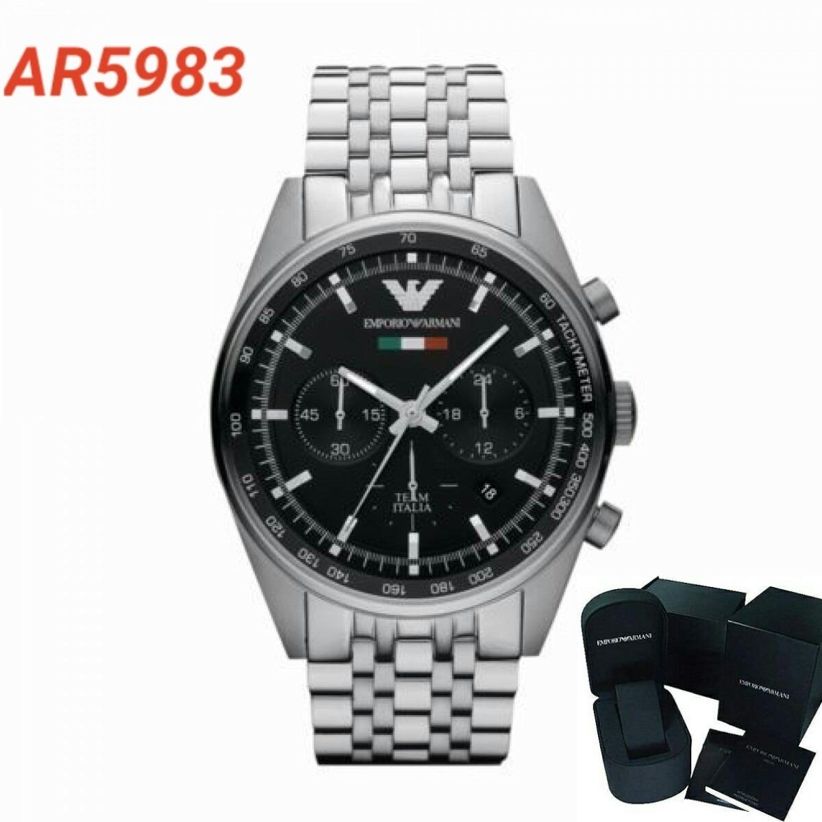 Relógio Masculino Empório Armani Ar5983 Completo - R  1.390,00 em ... 8ccd0d8371
