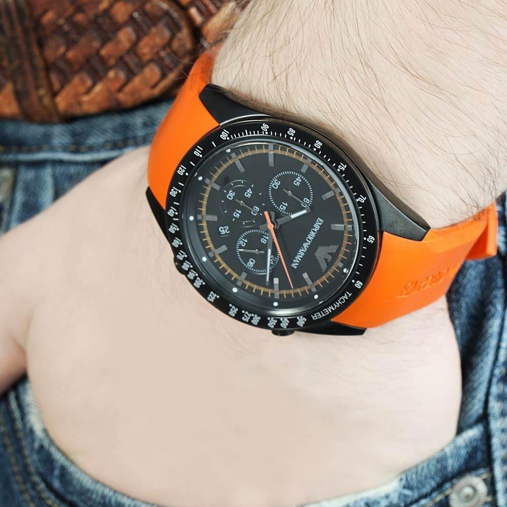 858a90a8f311a relogio masculino emporio armani ar5987 preto laranja oferta. Carregando  zoom.