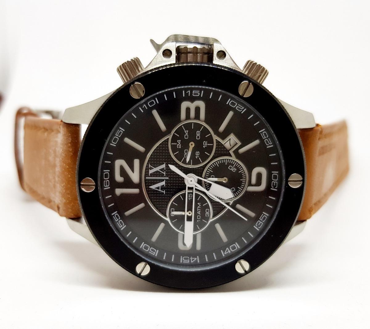288b81945b2d6 relógio masculino empório armani ax1509 couro promoção. Carregando zoom.