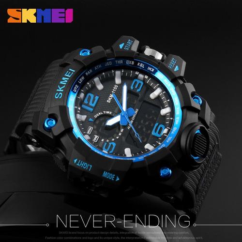 relógio masculino esporte casual digital 50m prova d' água