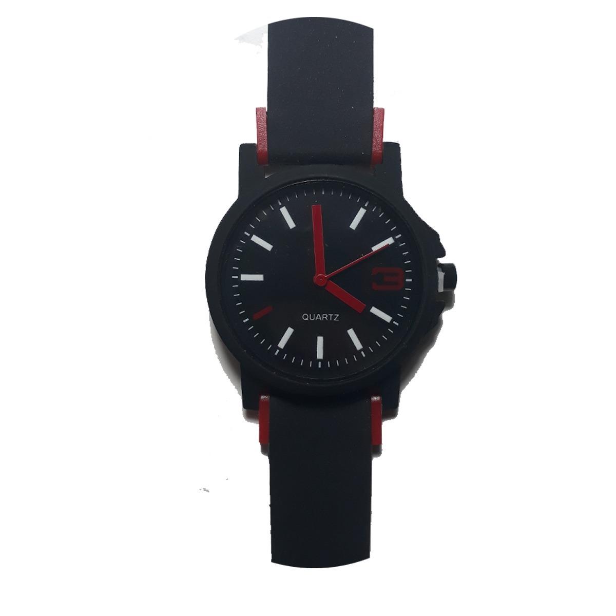 f77951d443c relógio masculino esporte casual preto pulseira borracha. Carregando zoom.