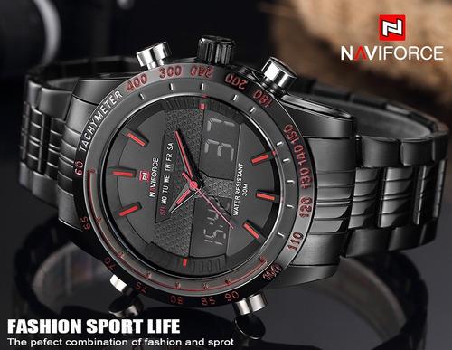 relógio masculino esporte racer militar naviforce c/ caixa