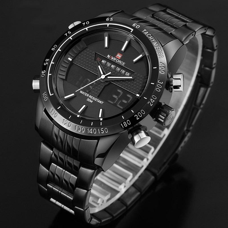 d6322f577a0 relógio masculino esporte racer militar naviforce original. Carregando zoom.