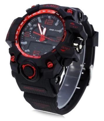 relógio masculino esporte skmei wr resistente água 1155